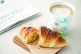 クロワッサン+あさのラテ / Caffe Latte for Morning and Croissant Set